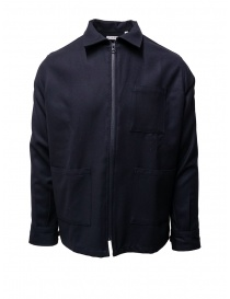 Camo blue cotton zippered jacket AF0016 SWOOL NAVY