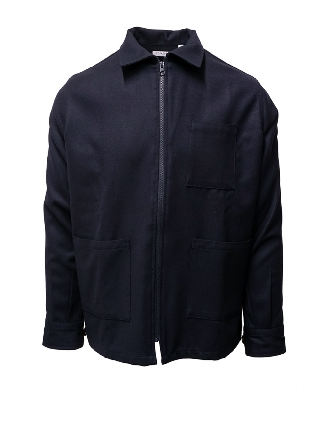 Camo blue cotton zippered jacket AF0016 SWOOL NAVY mens jackets online shopping