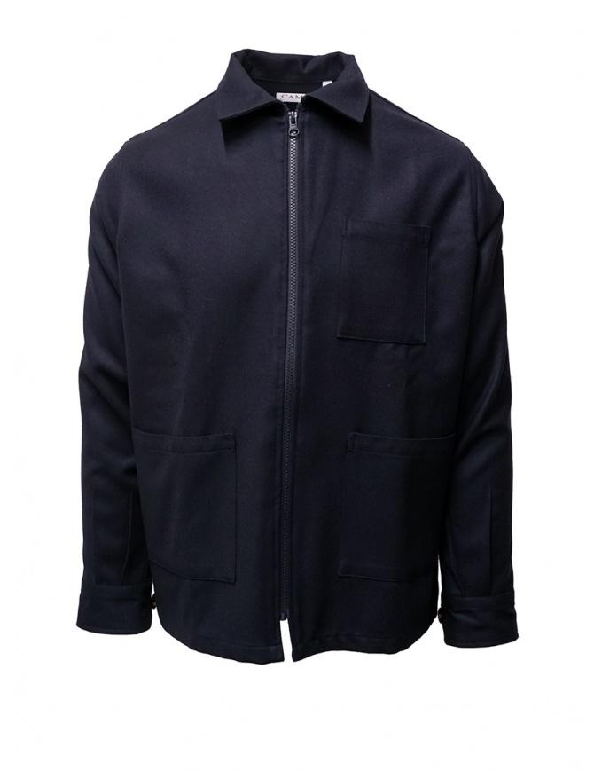 Giacca Camo in cotone blu con zip AF0016 SWOOL NAVY giubbini uomo online shopping