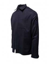 Camo blue cotton zippered jacket buy online