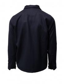 Giacca Camo in cotone blu con zip prezzo
