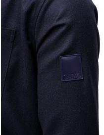 Giacca Camo in cotone blu con zip giubbini uomo acquista online
