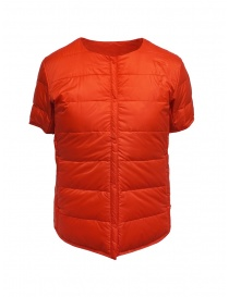 Descente orange short-sleeve down jacket online