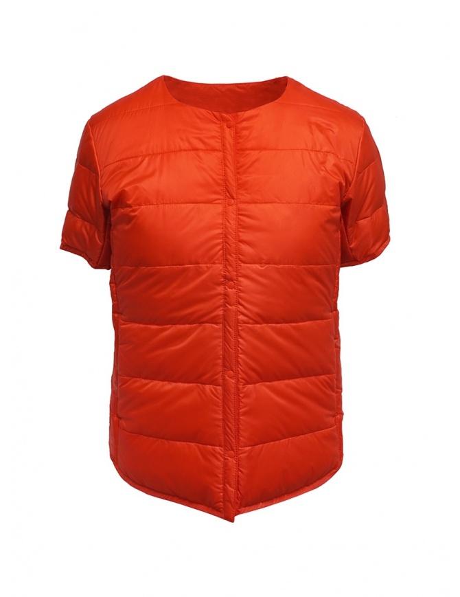 Descente piumino manica corta arancione DIA3594WU BRED giubbini donna online shopping