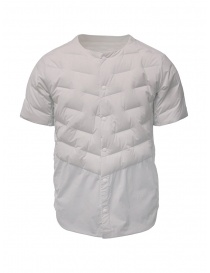 Descente white short-sleeve down jacket DAMOGC50 WHPL