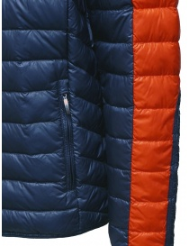 Parajumpers Bredford blue and orange down jacket mens jackets price