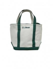 L.L. Bean Boat and Tote borsa a mano bianca e verde online
