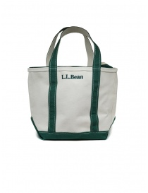 L.L. Bean Boat and Tote white and green handbag online