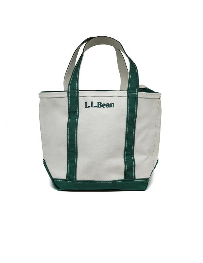 L.L. Bean Boat and Tote white and green handbag OSLV3 52001 BAG DARK GREEN bags online shopping