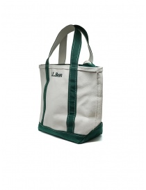 L.L. Bean Boat and Tote white and green handbag
