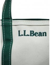 L.L. Bean Boat and Tote borsa a mano bianca e verde borse acquista online