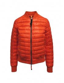 Womens jackets online: Parajumpers Sharyl orange padded bomber jacket