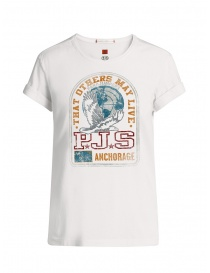 Parajumpers Unique white t-shirt with front print online