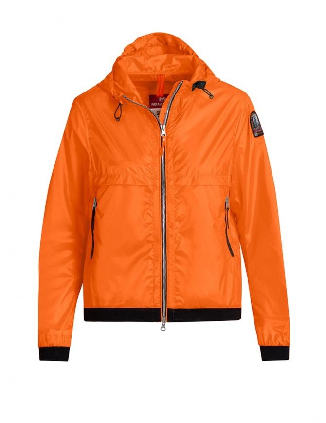 Parajumpers Ibuki orange hoodie windbreaker PWJCKSA32 IBUKI ORANGE womens jackets online shopping
