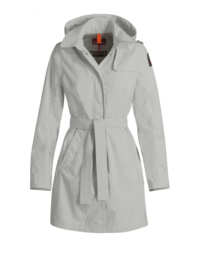 Parajumpers Avery giacca lunga impermeabile bianca PWJCKWI34 AVERY WHITE giubbini donna online shopping