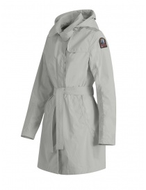 Parajumpers Avery white waterproof long jacket