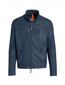 Parajumpers Justin giacca in pelle di agnello blu online