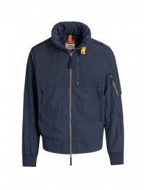 Mens jackets online: Parajumpers Naos navy blue hoodie jacket