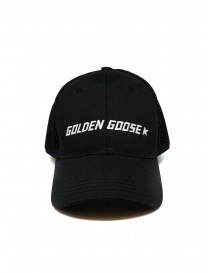 Golden Goose black baseball cap with net