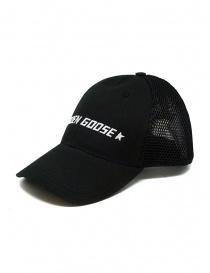 Golden Goose berretto da baseball nero con retina prezzo