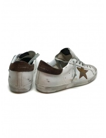 Golden Goose Superstar white sneakers with brown star price