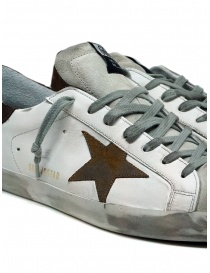Golden Goose Superstar white sneakers with brown star mens shoes buy online