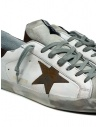 Golden Goose Superstar white sneakers with brown star G36MS590.U61 WHT-BWN STAR buy online