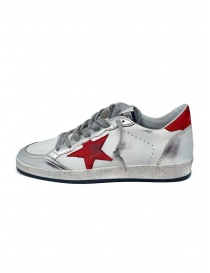 Golden Goose Ball Star sneaker bianca rossa