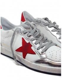 Golden Goose Ball Star sneaker bianca rossa calzature uomo acquista online