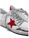 Golden Goose Ball Star sneaker bianca rossa G36MS592.A56 WHT-RED NAB.STAR acquista online