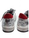 Golden Goose Ball Star sneaker bianca rossa prezzo G36MS592.A56 WHT-RED NAB.STARshop online