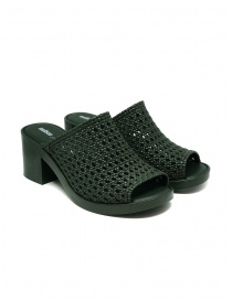 Womens shoes online: Melissa Mule II + Jason Wu green braided sandals
