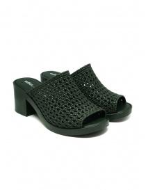 Calzature donna online: Melissa Mule II + Jason Wu sandali intrecciati verdi
