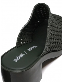 Melissa Mule II + Jason Wu green braided sandals womens shoes price