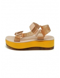 Melissa Papete Platform + Rider pink and yellow sandals