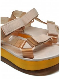 Melissa Papete Platform + Rider pink and yellow sandals womens shoes buy online