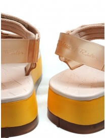 Melissa Papete Platform + Rider pink and yellow sandals womens shoes price