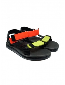 Womens shoes online: Melissa Papete + Rider black and fluo sandals