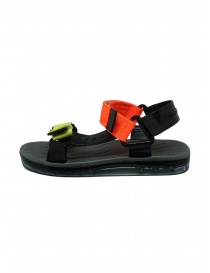 Melissa Papete + Rider black and fluo sandals