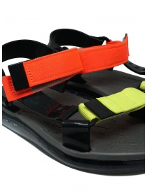 Melissa Papete + Rider black and fluo sandals womens shoes buy online