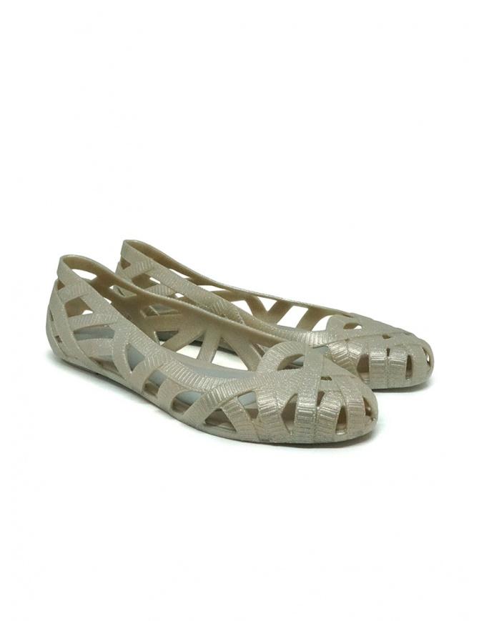 Melissa + Jason Wu glitter beige braided ballet flats 32288 51709 BEIGE/GREY womens shoes online shopping