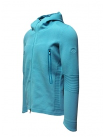 Descente Fusionknit Circuit turquoise hoodie sweatshirt