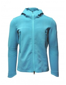 Descente Fusionknit Circuit turquoise hoodie sweatshirt DAMOGA04 WHPL order online