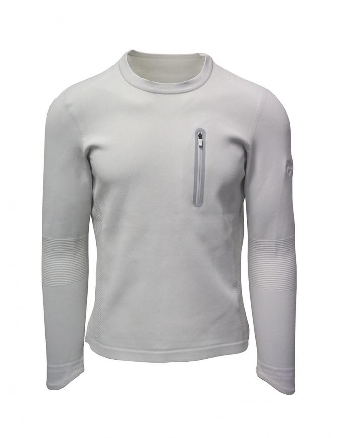 Descente Fusionknit Capsule white sweatshirt DAMOGA04 WHPL mens knitwear online shopping