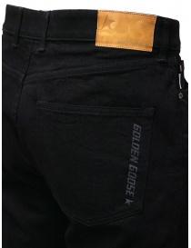 Golden Goose jeans nero con la piega jeans uomo acquista online