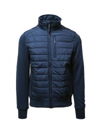 Mens jackets online: Parajumpers Elliot blue down sweater jacket