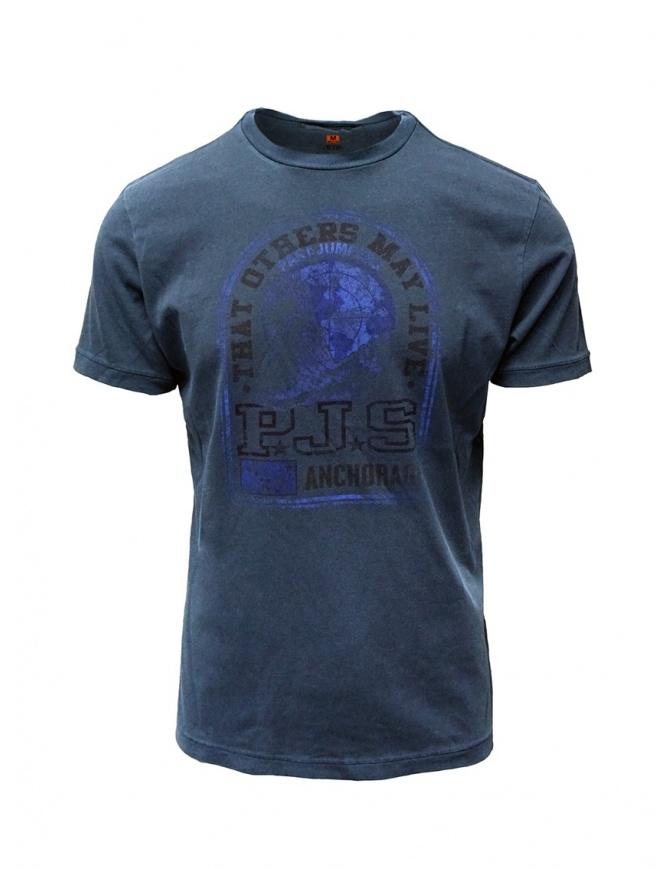 Parajumpers t-shirt Zeke Interstellar blu PMFLETS10 ZEKE INTERSTELLAR t shirt uomo online shopping