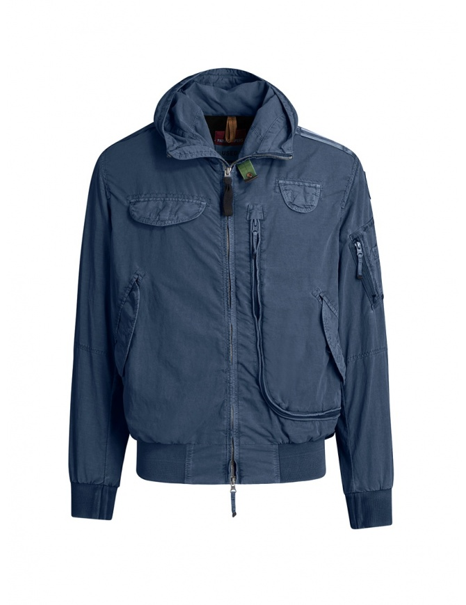 Parajumpers Gobi Used blue bomber jacket PMJCKUS01 GOBI U. MARINE mens jackets online shopping