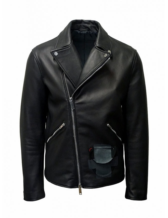 D.D.P. Iconic Brand chiodo in pelle nero MKJ001 CHIODO UOMO giubbini uomo online shopping