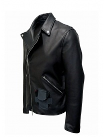 D.D.P. Iconic Brand black studded leather jacket price